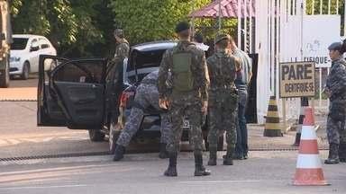 Segurança é reforçada em hotel onde delegações estão hospedadas no AM - Forças armadas fazem operação para garantir segurança de delegações.Exército, Marinha e Polícia Militar fazem parte das ações.