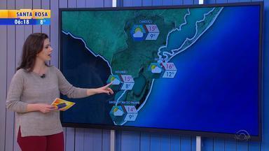 Tempo: sol predomina nos próximos dias na Região Noroeste do RS - Tempo fica seco, sem previsão de chuva.