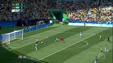 Brasil vai enfrentar a Alemanha na final do futebol masculino - Brasil goleou Honduras por 6 a 0 e a Alemanha, venceu a Nigéria por 2 a o. Confirma os gols das duas partidas.