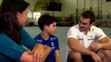 Arthur Zanetti é inspiração para atletas mirins - É importante par as crianças experimentarem vários esportes, independente do biotipo físico. Assim, ela pode desenvolver coordenação motora e noção de espaço e tempo.