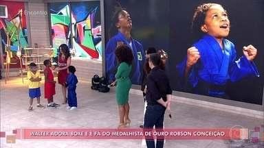 'Encontro' faz fotos de crianças imitando medalhistas brasileiros de 2016 - Rafaela Silva, Robson Conceição e Lucarelli são homenageados pelas crianças