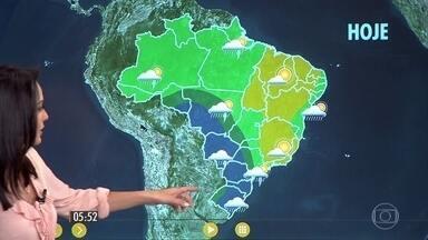 Confira como fica o tempo nesta terça-feira (30) em todo o país - Chuva se espalha por São Paulo, Goiás e Triângulo Mineiro.