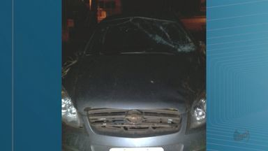 Suspeito foge da polícia, capota carro e é preso em Miguelópolis, SP - Homem estava com carro roubado e arma sem posse legal.
