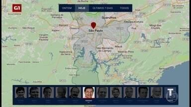 Acompanhe os compromissos dos candidatos à prefeitura da capital - Um mapa mostra em quais regiões os candidatos a prefeito de São Paulo concentram a campanha.