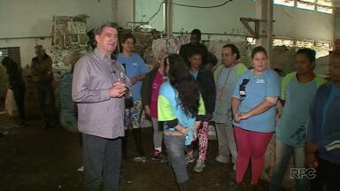 ParanáTV acompanha a agenda do candidato a prefeito Valter Orsi, do PSDB - Ele visitou uma cooperativa de reciclagem na zona norte de Londrina.