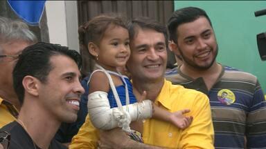 Confira como foram os compromissos de Campanha do Candidato a Prefeito pelo PSDB - Romero Rodrigues visitou moradores de uma Comunidade no Bairro do Catolé.