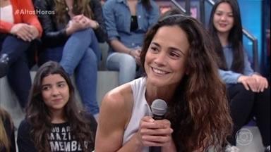 Mariana Ximenez e Alice Braga querem trabalhar juntas - Atrizes revelam que são amigas, mas nunca tiveram a oportunidade de estarem num mesmo projeto