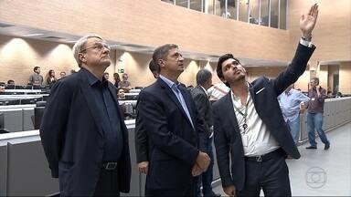 Délio Malheiros (PSD) disse que vai investir mais recursos em segurança pública - O candidato visitou o Centro de Operações da Prefeitura de Belo Horizonte.