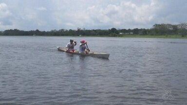 Moradores de comunidade em Iranduba, no AM, participam de competição de canoagem - Disputa foi realizada na comunidade 7 de setembro, na zona rural de Iranduba.