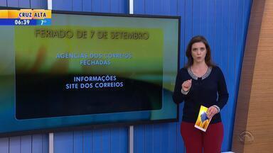 Veja o que abre e fecha em Porto Alegre neste feriado de 7 de Setembro - Agências bancárias e dos Correios ficarão fechadas nesta quarta-feira (7).