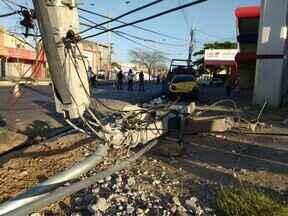 Acidente deixa um motociclista gravemente ferido na Av. Miguel Rosa - Acidente deixa um motociclista gravemente ferido na Av. Miguel Rosa