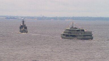 Marinha realiza desfile naval em Manaus - Ato ocorreu em comemoração a Semana da Pátria.