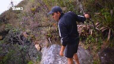 Mário conhece o Parque Estadual do Ibitipoca - Tô Indo lançou série sobre Conceição do Ibitipoca neste sábado