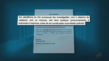 Dárcy Vera dá a primeira declaração em Ribeirão após prisões na Operação Sevandija - Prefeita optou por se manifestar em nota entregue à imprensa.
