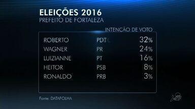 Roberto Cláudio tem 32% e Capitão Wagner, 24%, diz Datafolha - Luizianne Lins tem 16% e Heitor Férrer, 8%.
