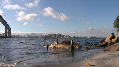 Baleia jubarte é encontrada morta em Vila Velha, ES - Animal de 10 toneladas está encalhado próximo ao Morro do Moreno.Segundo diretor de Instituto, local é de difícil acesso para máquina.