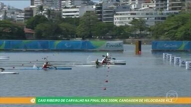 Na estreia da canoagem na Paralimpíada, Caio Ribeiro conquista o bronze para o Brasil - Caio disputal a final do caiaque 200m, classe KL3, para atletas com menos comprometimento.