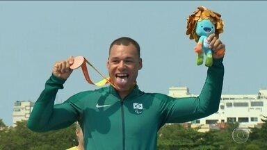 Caio Ribeiro conquista medalha de bronze na canoagem de velocidade KL3 - É a primeira vez que o esporte participa de uma Paralimpíada.