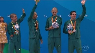 Brasil garante medalhas na natação, atletismo e ciclismo no 7º dia de Paralimpíada - Carlos Farrenberg, veterano. garantiu a prata nos 50m livre.