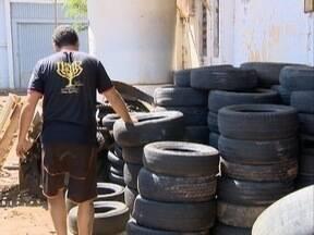 Campanha recolhe pneus para evitar criadouros da dengue - Materiais foram recebidos pelo Ecoponto de Presidente Prudente.