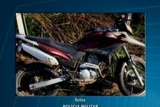 Menor é apreendido após roubar moto em Divinópolis - Polícia também apreendeu moto e réplica de pistola.