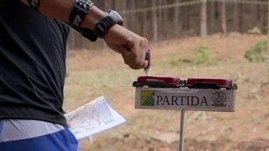 Campeonato Brasileiro de Orientação reúne cerca de 500 competidores - Na competição, as principais ferramentas dos atletas são o mapa e a bússola.