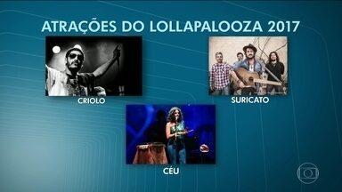 Organização do Lollapalooza anuncia atrações do festival em 2017 - Metallica, The Strokes e The Weeknd são alguns destaques da programação da edição de 2017 do festival que acontece em 25 e 26 de março no Autódromo de Interlagos.