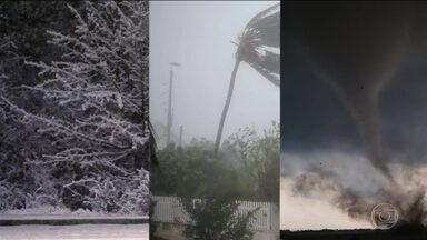 EUA vão lançar satélite para prever furacões como o que ameaça Caribe - O furacão Mattthew está se aproximando rapidamente do Haiti e de Cuba, preocupando o Caribe. Depois, Matthew deve seguir para a costa da Flórida, nos Estados Unidos.