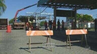 Terminal do Campo Grande ficará fechado para reforma após acidente em Campinas - As linhas que funcionam no local foram transferidas para as ruas laterais. O acidente que interditou o terminal aconteceu em agosto.