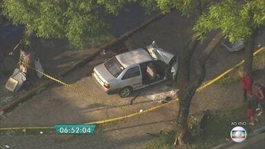 Seis pessoas ficam feridas em acidente no ABC Paulista - Três carros se envolveram no acidente em Santo André, no ABC Paulista.