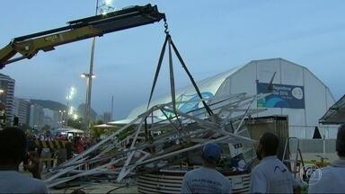 Orla Rio vai vistoriar os quiosques da praia para evitar outros acidentes - Especialista ouvido pelo RJTV acredita que houve falha na montagem e na manutenção do quiosque, que desabou em Copacabana.