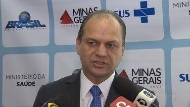 Ministro Ricardo Barros anuncia liberação de verbas para hospitais filantrópicos de BH - O ministro da Saúde esteve em um evento em Belo Horizonte. Ele ainda disse que os repelentes para mulheres grávidas e atendidas pelo Bolsa Família estarão disponíveis em dezembro deste ano.