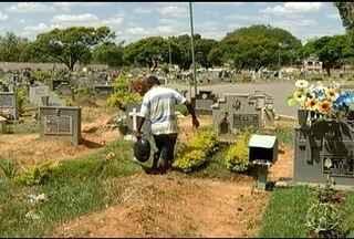 Cemitérios de Montes Claros são preparados para feriado de Finados - São mais de 22 mil túmulos a serem limpos.