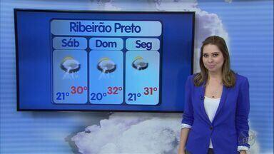 Veja a previsão do tempo para o fim de semana em Ribeirão Preto, SP - Chuva diminui, mas temperaturas seguem mais amenas neste sábado e no domingo.