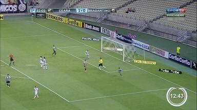 Bragantino perde mais uma e segue na zona de rebaixamento - Ceará venceu Braga por 2 a 0, fora de casa.