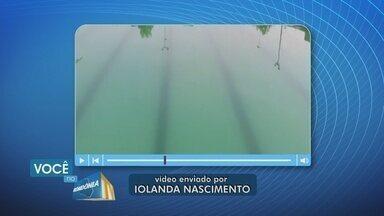 Moradora denuncia abandono do complexo de natação Vinícius Danin - Prefeitura diz que providência para resolver o problema estão sendo tomadas.