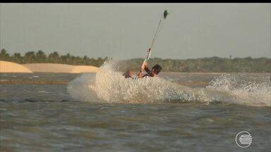 Evento de kite surf movimenta o litoral do Piauí - Evento de kite surf movimenta o litoral do Piauí