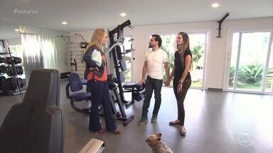Luciano mostra academia e mais detalhes de sua casa - Cantor fala sobre sua rotina