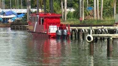 Corpo de Bombeiros investe em lancha nova, mas embarcação não funciona - A embarcação que já está no Lago Paranoá há 15 dias está com problemas na bomba que tira a água do lago.