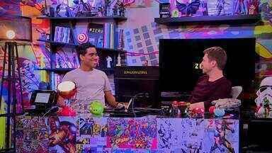 Tiago Leifert desafia o convidado Wendell Lira para uma partida de futebol no videogame - O apresentador disputa uma partida de videogame com o ex-atleta de futebol que virou jogador virtual