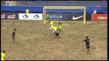 Brasil está na final do Mundialito de Beach Soccer - Campeonato acontece em arena montada na praia do Gonzaga, em Santos.