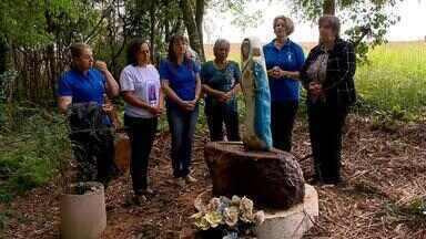 Imagem de Navegantes permanece intacta após queda de árvores no RS - Fato ocorreu onde devotos de Mormaço fazem a Festa de Navegantes.