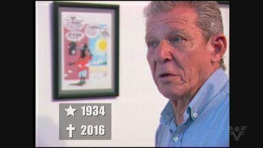Famoso por suas charges JC Lobo morre e é homenageado em Santos - João Carlos Lobo morre na véspera do aniversário do Rei Pelé.