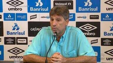 Renato faz treino fechado antes de embarcar para Belo Horizonte - Time deve ser o mesmo que empatou com o Inter na Arena.