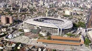Estádio olímpico do Engenhão fica sem luz - O estádio foi devolvido ao Botafogo depois dos jogos olímpicos. Agora, a Light cortou a energia. A empresa diz que há duas contas atrasadas referentes ao período da Olimpíada.