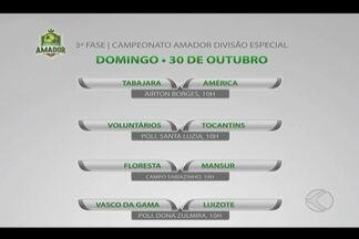 Com confrontos definidos, LUF divulga locais dos jogos da 3ª fase do Amador - Partidas de ida da terceira fase do Campeonato de Uberlândia acontecem neste domingo, às 10h. Tabajara e América reeditam final de 2015, no Airton Borges
