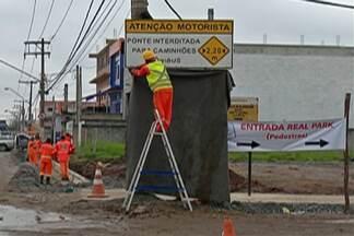 Avenida Guilherme George é interditada para obras - Previsão é de que via fique bloqueada até o fim de novembro.