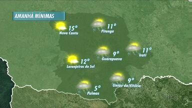 Quinta-feira será chuvosa na região - A chuva continua amanhã em todas as cidades da região.