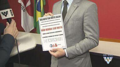 OAB de Guarujá faz campanha sobre voto consciente - Entidade está alertando os eleitores sobre importância de não vender o voto no segundo turno das eleições do próximo domingo.
