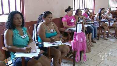 Pescadoras participam de treinamento em Santarém - Pessoas de todo o estado participam do treinamento.